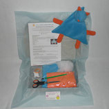 Kit doudou chat orange et bleu