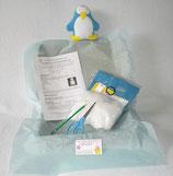 Kit doudou pingouin bleu