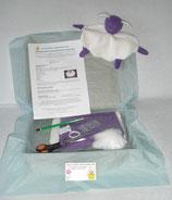 Kit doudou mouton violet et blanc