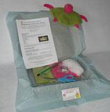 Kit doudou tortue rose et verte