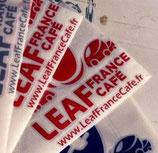 autocollant rouge Leaf France Café