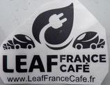 Autocollant noir Leaf France Café