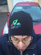 Bonnet noir brodé logo Leaf france Café