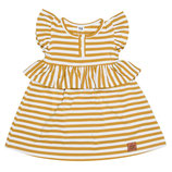 ZEZUZULLA Dress Yellow Stripes