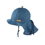 PUREPURE Leinensonnenhut mit Nackenschutz storm blue