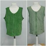 Leela Cotton Wende-Weste grün/gestreift
