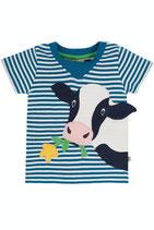 FRUGI Tshirt Cow Blue Stripes