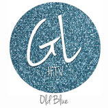 "Glitter HTV - Old Blue  20"" x 12""  - Sheet"