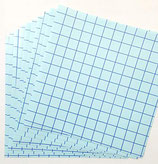 "Blue Grid Transfer Tape - Clear - 12"" x 12"" Sheet"