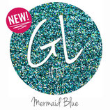 "Glitter HTV - Mermaid Blue  20"" x 12""  - Sheet"