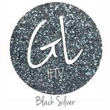 "Glitter HTV - Black Silver  20"" x 12""  - Sheet"