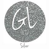 "Glitter HTV -Silver  20"" x 12""  - Sheet"
