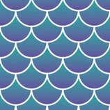 "Pattern HTV - Mermaid Scales - 12"" x 15"" Sheet"