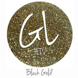 "Glitter HTV - Black Gold  20"" x 12""  - Sheet"