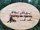 """Holzbrett mit Spruch """"Hier schlafen..."""""""