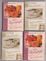 4 kleine Faltbücher: 2 Baby + 2 Rosen