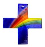 Glaskreuz mit Regenbogen 13,5 cm Nr. 23