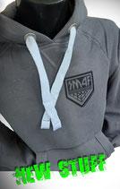 Hoodie Grau mit kleinem KISS Army Style Limitierte Auflage
