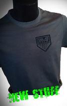 Teamshirt Herren Grau mit kleinem KISS Army Style Limitierte Auflage