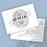 "Handlettering Postcard ""Lustig"""
