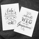 "Handlettering Postcard ""Liebe"""