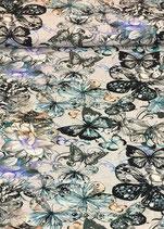 Viskosenjersey Flower Print. vij0006. BE: 10 cm
