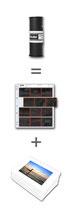 Entwicklung Rollfilm + Layoutprints