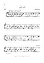 """Klaviernoten - Titel: """"Aufbruch"""""""