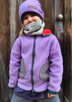 Polarfleecejacke Lila