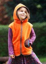 Polarfleeceweste Orange