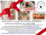 Cours de Cuisine Japonaise Omoténashi