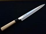 Takayuki Shobu (Yanagiba, couteau à sashimi) avec ou sans étui en bois laqué Urushi