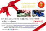 Bon cadeau Cours d'Affutage en atelier de 1H
