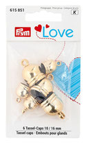 Prym Love Tassel Caps 10 - 16 mm gold