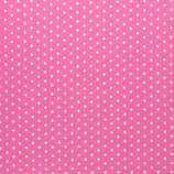 Baumwolle Sterne, 1 cm, weiß/rosa