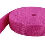 Gurtband 25 mm, pink
