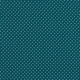 Baumwolle Punkte, 2 mm, petrol