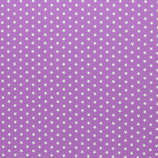 Baumwolle Sterne, 1 cm, weiß/flieder
