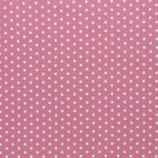 Baumwolle Sterne, 1 cm, weiß/altrosa