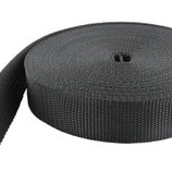 Gurtband 25 mm, schwarz