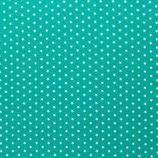 Baumwolle Sterne, 1 cm, weiß/mint
