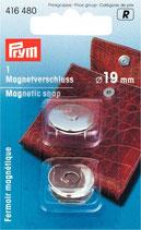 Prym Magnetverschluss 19 mm, silber