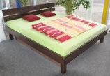 Ausstellungsbett 180 x 210 dual, Hohlkehlrahmen, starke Beruhigung mit Lordoseunterstützung
