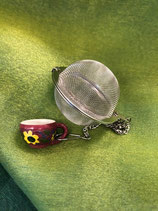 Portionen Tee Filter mit Ketteli und Motiv