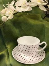 Tee Tasse gross mit Unterteller, (Artikel Nr. 1.7)