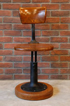 1900's WOODEN SCHOOL STOOL