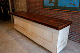 1880's GENERAL STORE COUNTER  WHITE CHIPPIE/OAK TOP