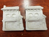 Pack 2 cuadritos casita escayola para pintar