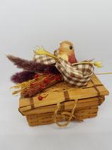 Cajita madera con pajarito
