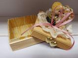 Cajita papel, madera y resina para regalo novios